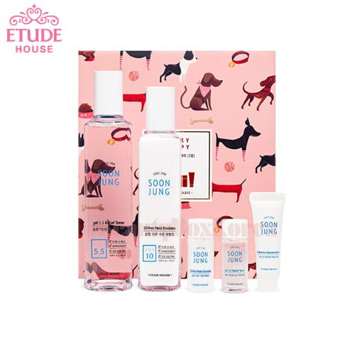 ETUDE HOUSE Soon Jung Skin Care Set 5items [Lucky Puppy Collection]